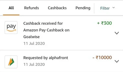 Goalwise Amazon Payment