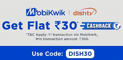 Mobikwik Dish tv Recharge Offer