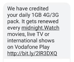 Vodafone 1GB Free Data