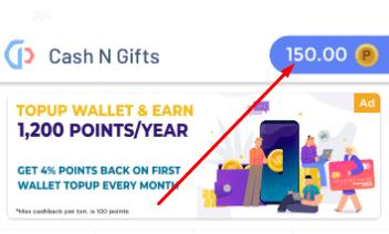 CashNGifts Signup bonus