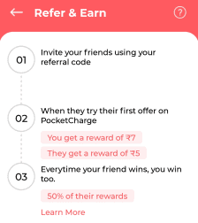 Pocket Charge Refer and Earn