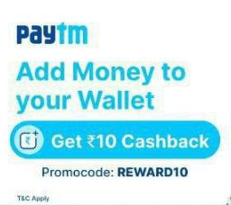 Paytm Rs 10 Cashback