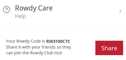 Rowdy Referral Codes