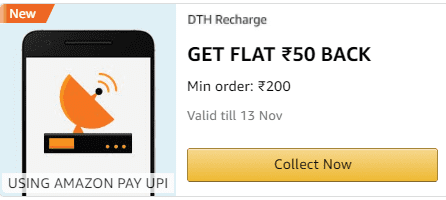 Amazon Rs 50 DTH Cashback