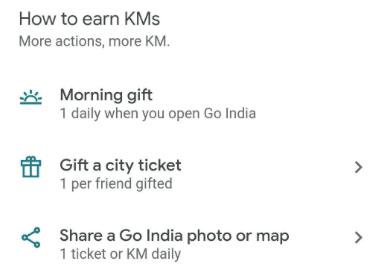 Google Pay Go India KM
