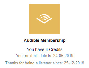 Audible Subscription India Price