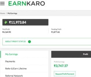 Earnkaro Referral Payment