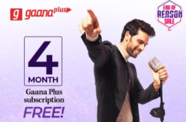 Gaana Myntra Free Subscription