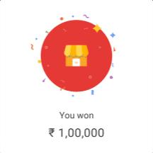 Google Pay Rs 1 Lakh Cashback