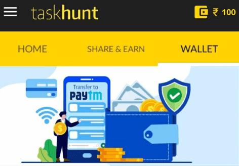 Task Hunt wallet