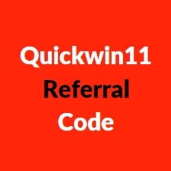 quickwin11 referral codes