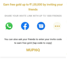 India gold referral