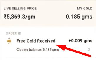 India gold rewards