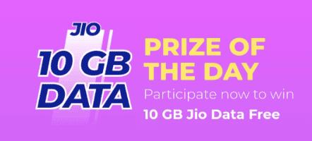 Jio 10GB Free Data