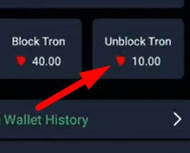 Admiraloption tron wallet