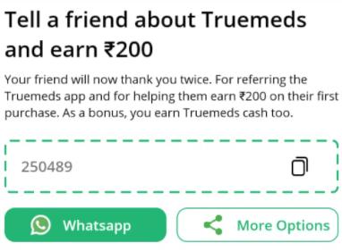 Truemeds refer and earn
