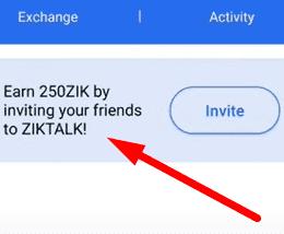 Ziktalk invite friends