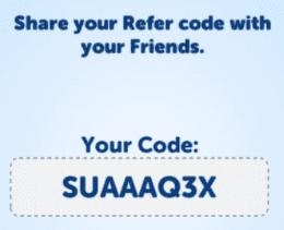 refer code