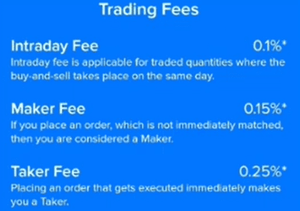 Zebpay fees