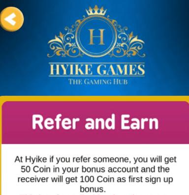 hyke ludo refer