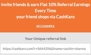 cashkaro referral link