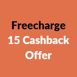 freecharge 15 cashback offer