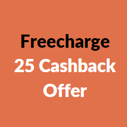 freecharge 25 cashback offer