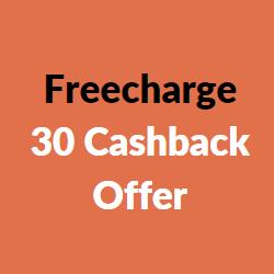 freecharge 30 cashback offer