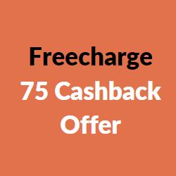 freecharge 75 cashback offer