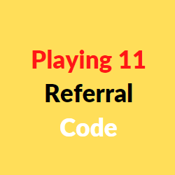 playing11 referral code