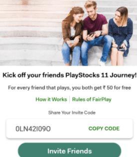 playstocks 11 code