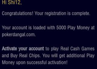 pokerdangal account
