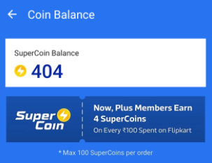 Flipkart super coins