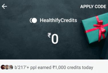 healthifyme apply code