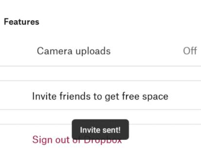 drop box invite friends