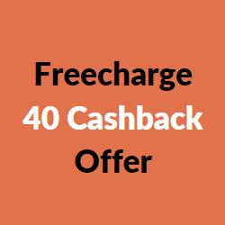 freecharge 40 cashback offer