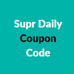 supr daily coupon code