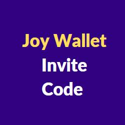 joy wallet invite codes