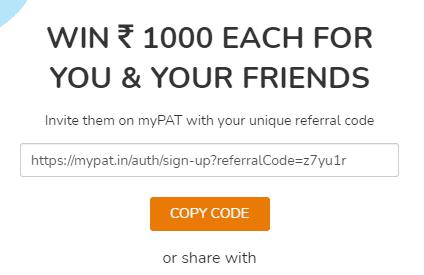 mypat code