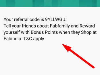 fabindia code