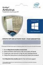 McAfee Anti-Virus – 1 PC, 1 Year (Voucher) at Rs 97 – Amazon