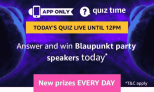 Amazon Blaupunkt Party Speakers Quiz Answers: 11th April