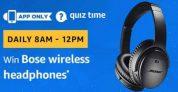 Amazon Bose Wireless Headphone Quiz Answers – 5th Jaunuary