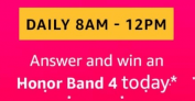 Amazon Honor Band 4 Quiz Answers – 7th February 2019