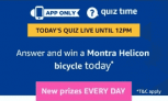Amazon Montra Helicon Bicycle Quiz Answers – 31st March 2019