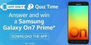 Amazon Samsung Galaxy On7 Prime Quiz Answers – Win Smartphone