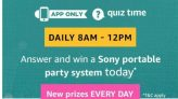 Amazon Sony Portable Party System Quiz Answers: 19th January 2019