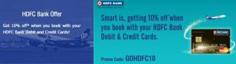 Hdfc Goair Offer – Get Flat 10% off on Flight tickets booking