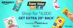 Amazon Super Value Day – Shop & Get 20% Cashback
