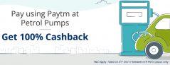 Paytm Petrol Offer – Get Rs 20 cashback on Transaction